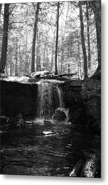 Moonlight Waterfall Metal Print