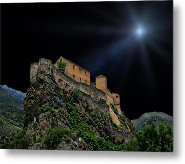 Moonlit Castle Metal Print