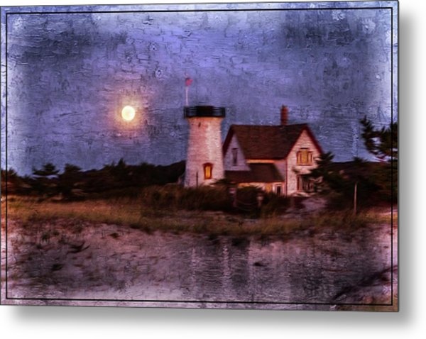 Moonlit Harbor Metal Print