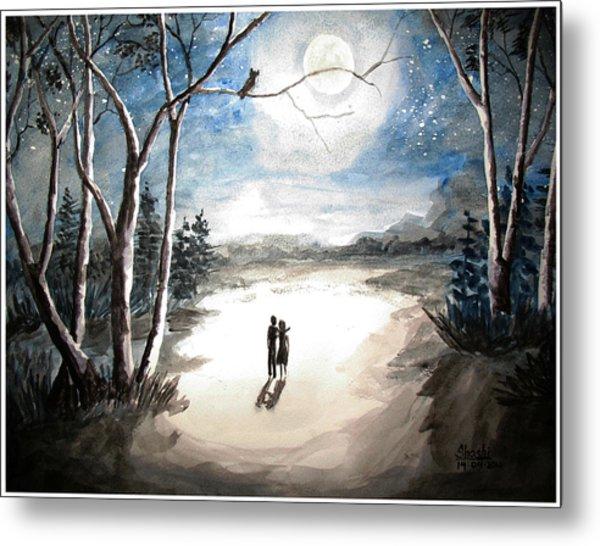 Moonlit Night Sweet Memory Metal Print by Shashikanta Parida