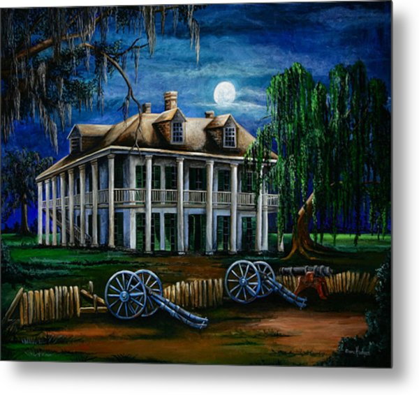 Moonlit Plantation Metal Print