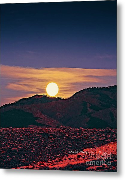 Moonrise In Northern New Mexico  Metal Print