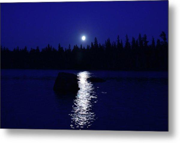 Moonrise On A Midsummer's Night Metal Print