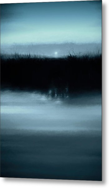 Moonrise On The Water Metal Print