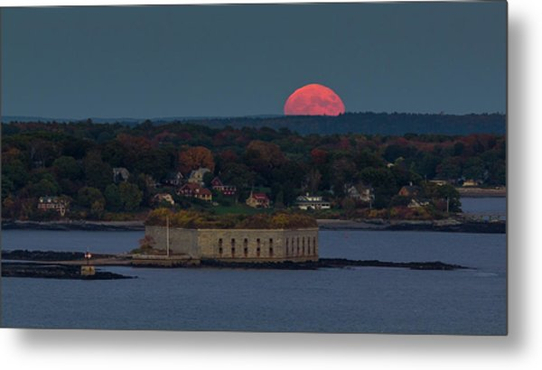 Moonrise Over Ft. Gorges Metal Print