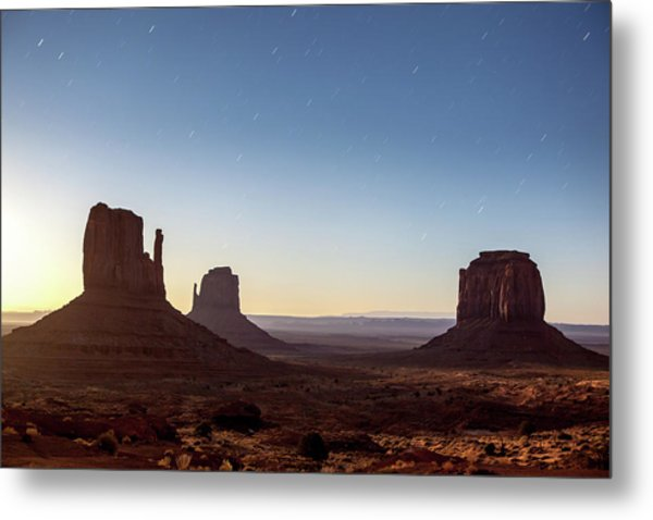 Moonrise Over Monument Valley Metal Print
