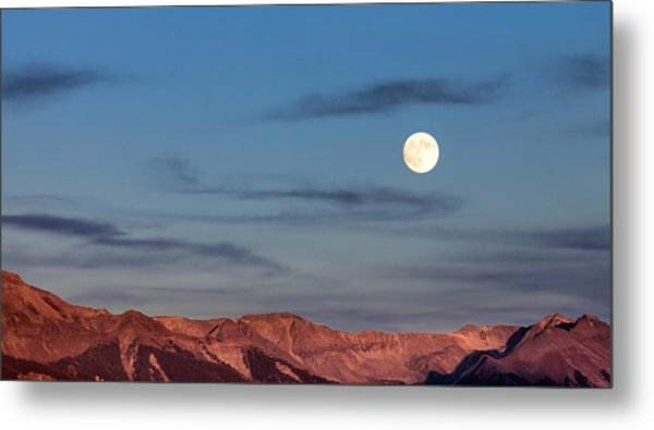 Moonrise With Afterglow Metal Print