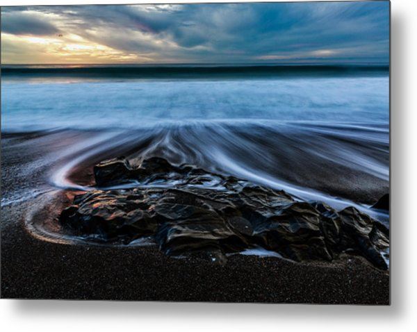 Moonstone Beach In The New Year Metal Print