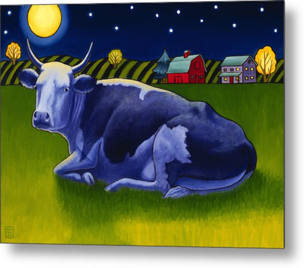 Mooonlight Metal Print