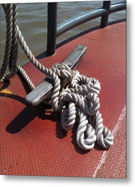 Mooring Rope Metal Print