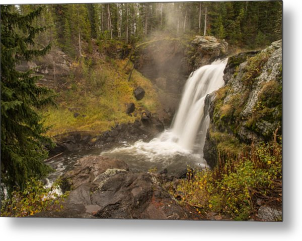 Metal Print featuring the photograph Moose Falls by Gary Lengyel