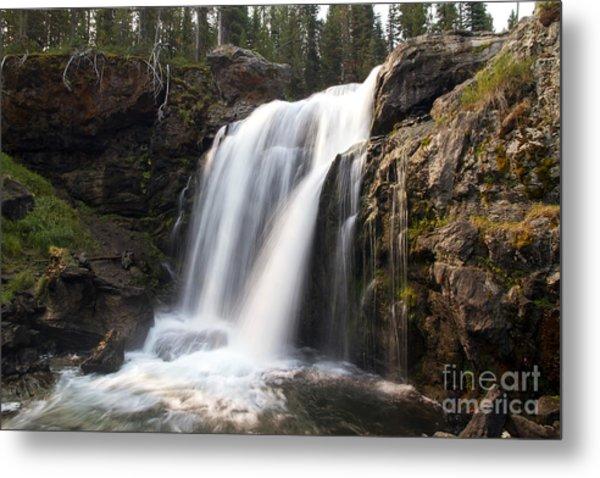 Moose Falls Yellowstone National Park Metal Print