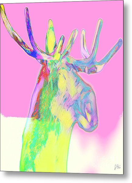 Moosemerized Metal Print