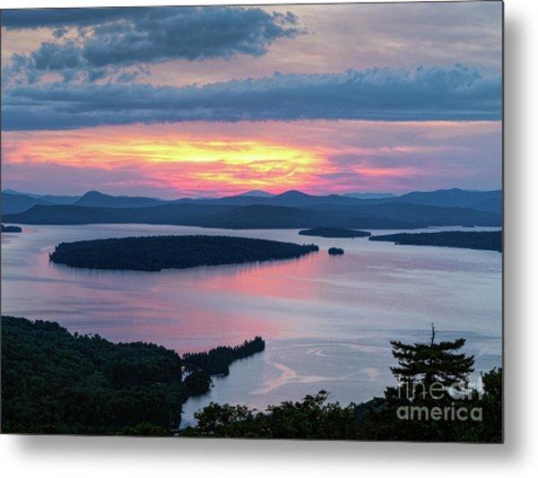 Mooselookmeguntic Lake In The Last Light Of Day - Rangeley Me  -63430 Metal Print