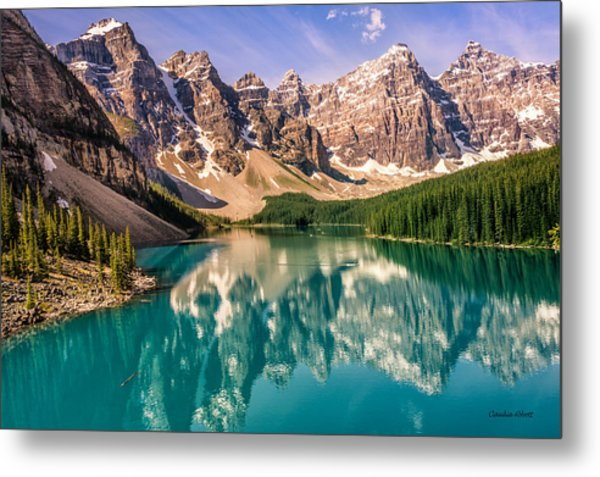 Moraine Lake Valley Of The Ten Peaks Metal Print