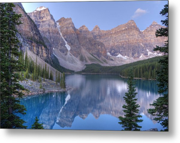 Metal Print featuring the photograph Moraine Lake - Valley Of The Ten Peaks by Darlene Bushue