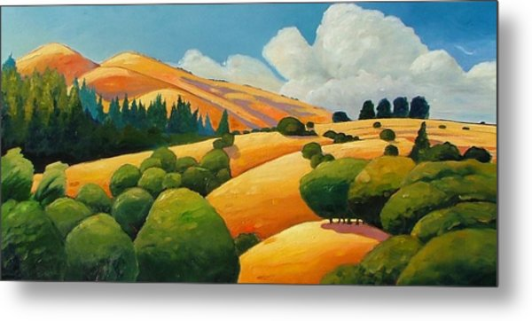 More Clouds Over Windy Hill Metal Print
