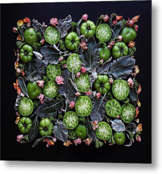 More Green Tomato Art Metal Print