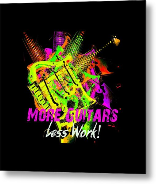 Metal Print featuring the photograph More Guitars  by Guitar Wacky