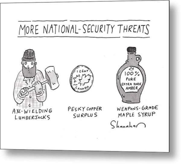 More National-security Threats Metal Print