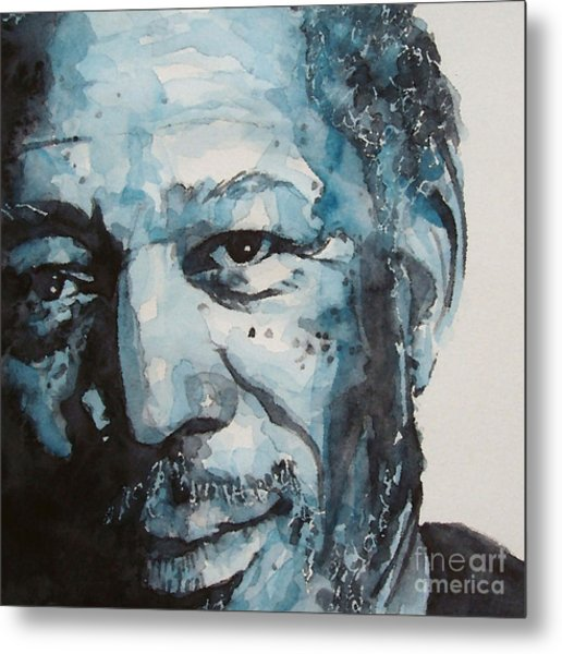 Morgan Freeman Metal Print by Paul Lovering