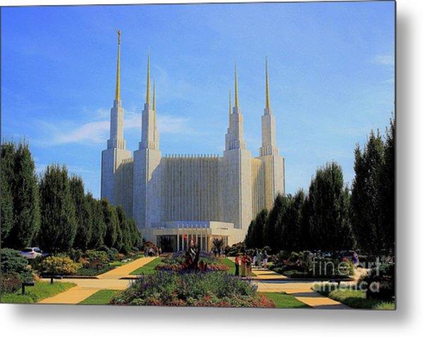 Mormon Temple Dc Metal Print