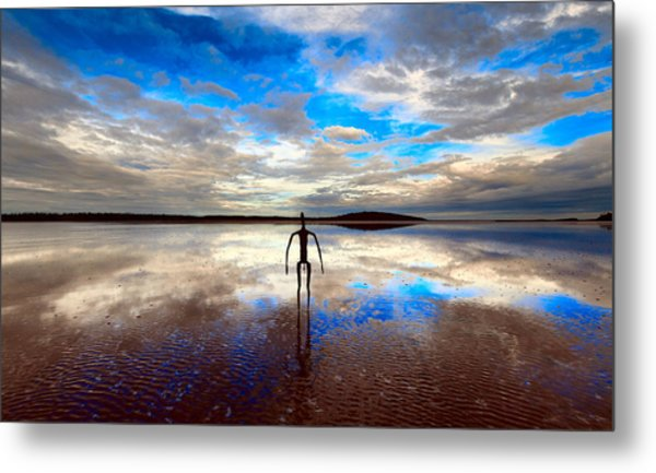 Morning Arrival At Lake Ballard Metal Print