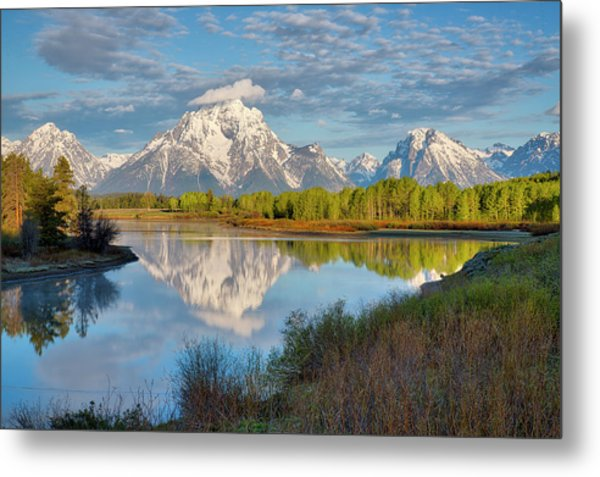 Morning At Oxbow Bend Metal Print