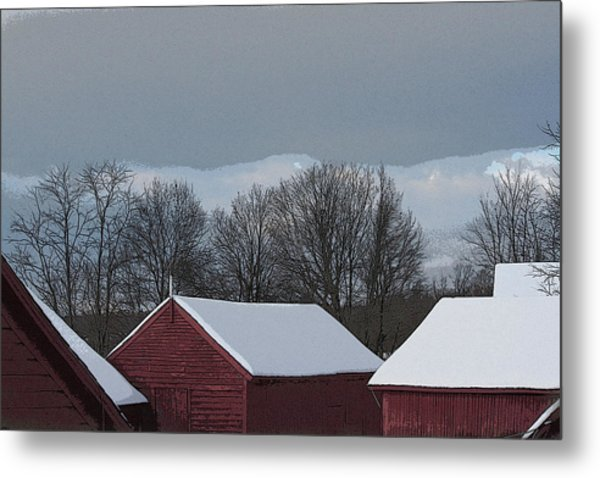 Morning Barnscape Metal Print