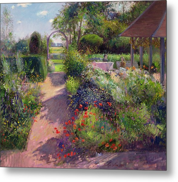 Morning Break In The Garden Metal Print