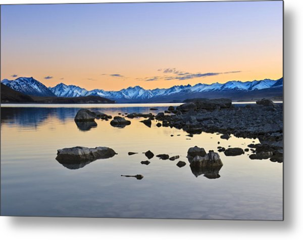 Morning By The Lake Metal Print
