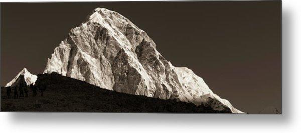 Metal Print featuring the photograph Morning Climb To Kala Patthar by Owen Weber