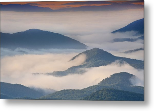 Morning Cloud Colors Metal Print