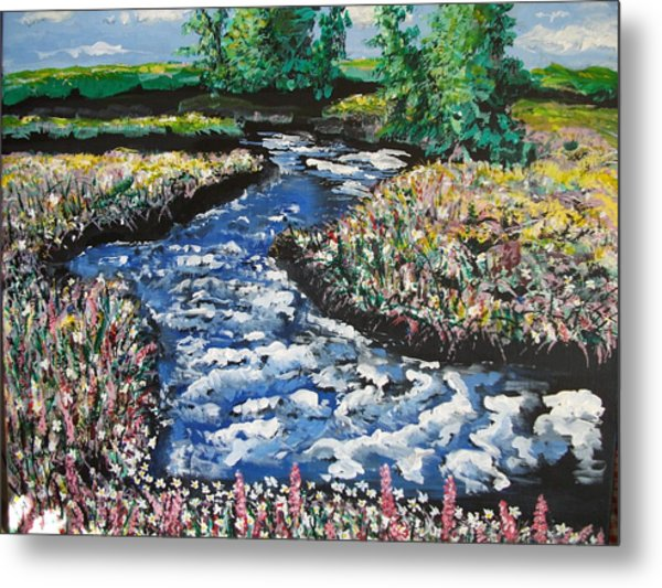 Morning Creekside Metal Print