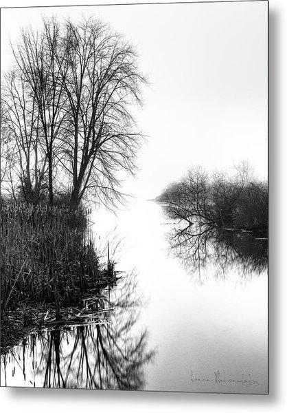 Morning Fog - Inlet, Lake Logan Metal Print