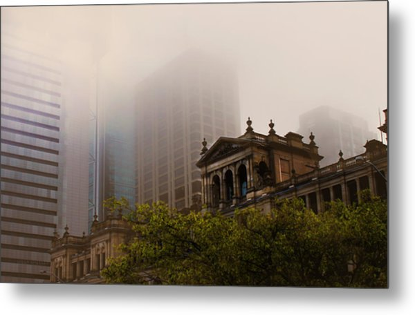 Morning Fog Over The Treasury Metal Print