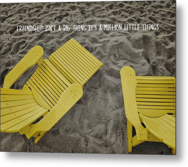 Morning Footsteps Quote Metal Print by JAMART Photography