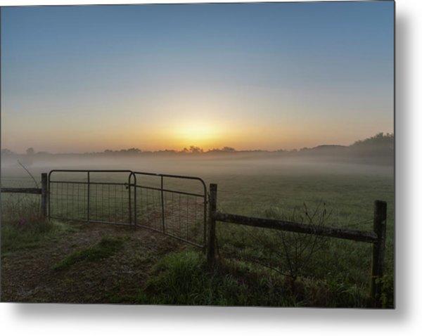Morning Gate Metal Print