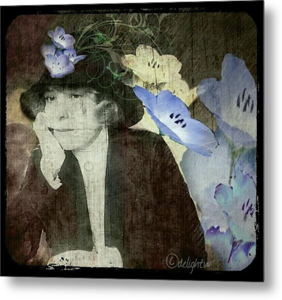 Metal Print featuring the digital art Morning Glories by Delight Worthyn