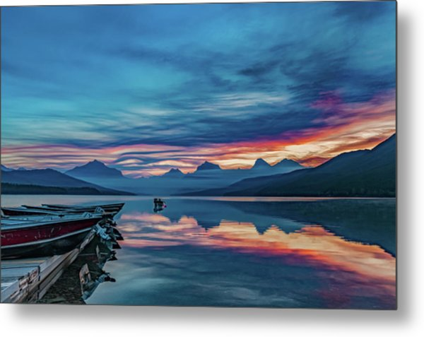 Metal Print featuring the photograph Morning Glory At Glacier National Park by Lon Dittrick