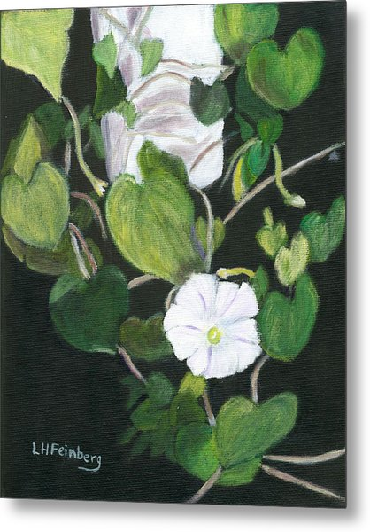 Metal Print featuring the painting Morning Glory by Linda Feinberg