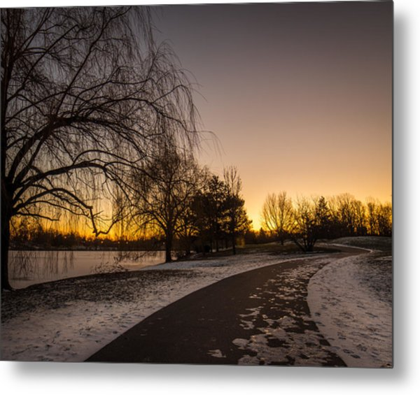 Morning Glow Along Hoyt Lake Metal Print