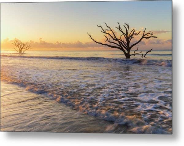 Morning Glow At Botany Bay Beach Metal Print