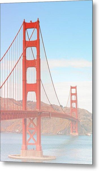 Morning Has Broken - Golden Gate Bridge San Francisco Metal Print