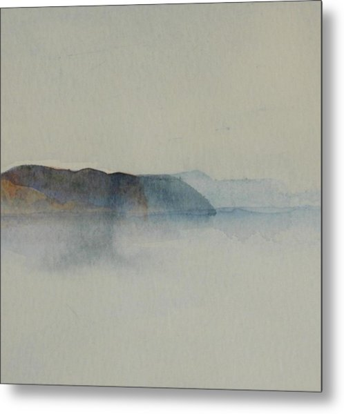 Morning Haze In The Swedish Archipelago On The Westcoast.2 Up To 28 X 28 Metal Print