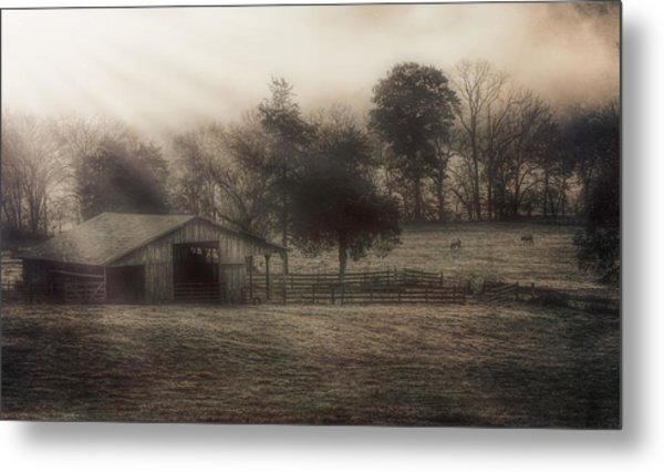 Morning In Boxley Valley Metal Print