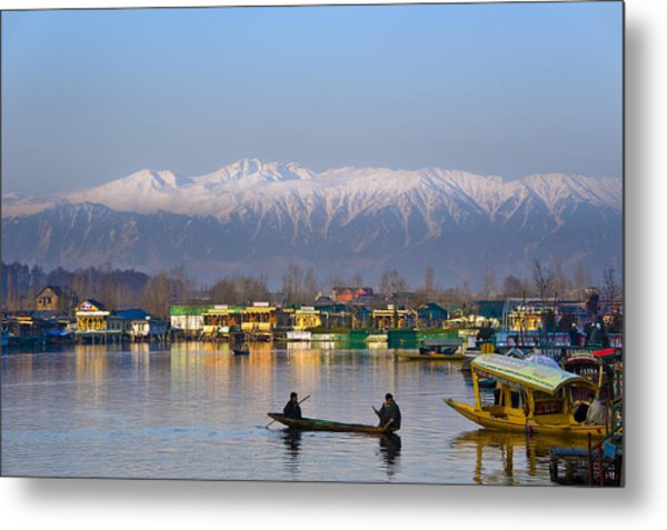 Morning In Kashmir Metal Print
