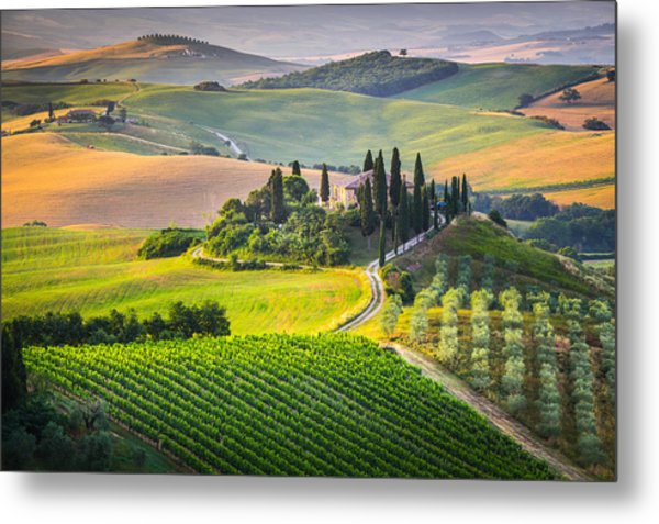 Morning In Tuscany Metal Print
