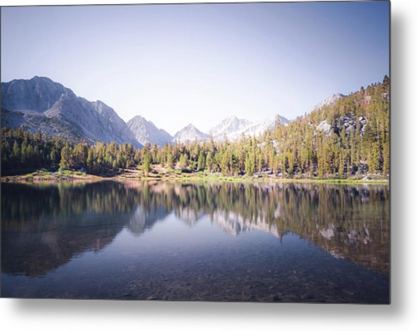 Morning Light At Heart Lake Metal Print