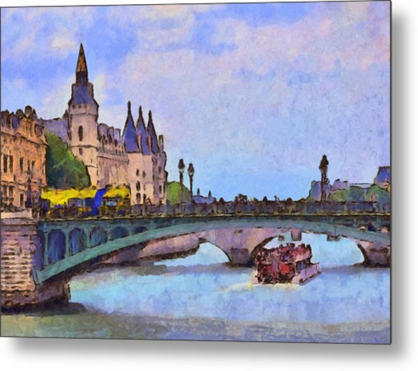 Morning Light In The City Of Light Metal Print